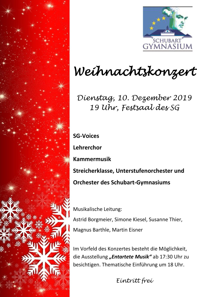 Plakat Weihnachtskonzert 2019