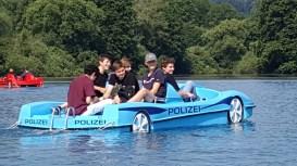 """Die """"Polizei"""" der 9b auf dem Itzelberger See"""