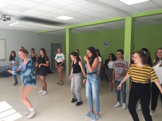 Probe beim Tanz-Projekt