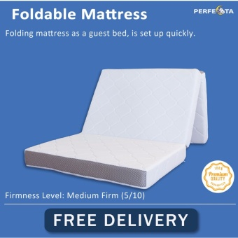 Foldable Foam Mattress 10cm Thickness Removable Cover Knitted Fabric Fast Delivery