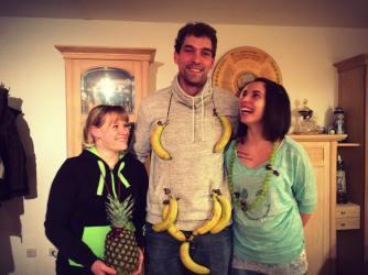 Peter als stolzer Bananenkönig