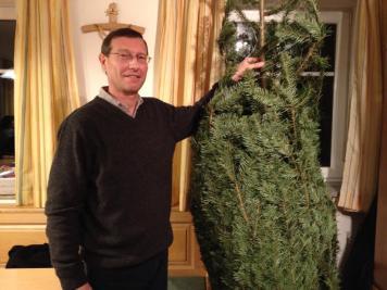 Albert gewinnt den Christbaum