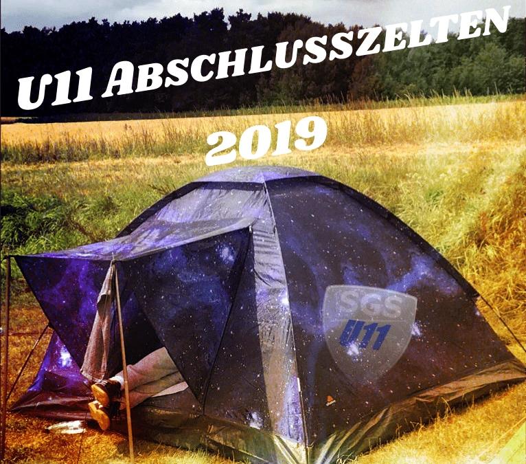 Abschlusszelten der U11 – 18/19
