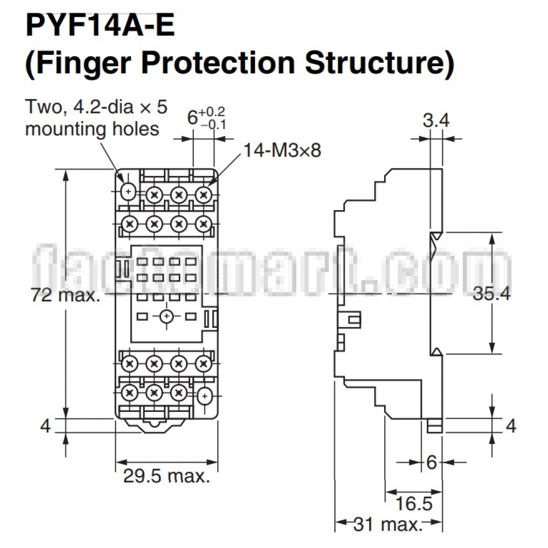 Pyf14a E Omron 4 Pin Plug In Socket Relay Factomart Thailan