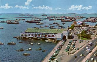 The bustling Clifford pier in 60s