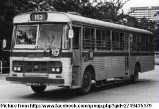 Old SBS bus in 1970s