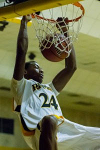 Anfernee McElmore hammers one home against Dougherty.  Photo: Erin Parker/SGSN