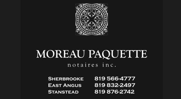 Carte d'affaires Moreau Paquette