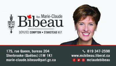 Député Marie-Claude Bibeau carte d'affaires