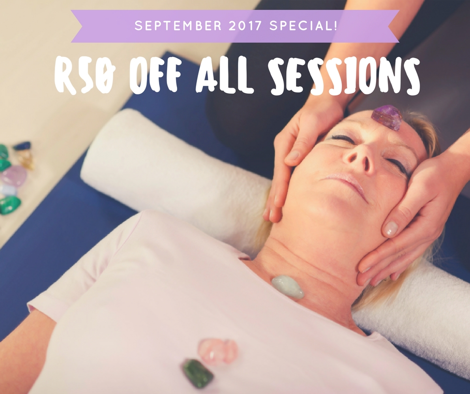 September 2017 R50 off healing sessions