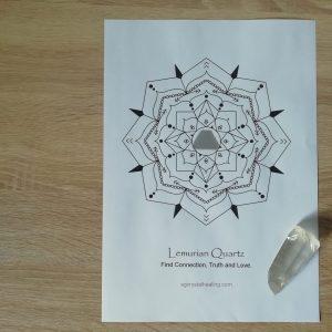 Crystal Mandala Coloring Page Lemurian