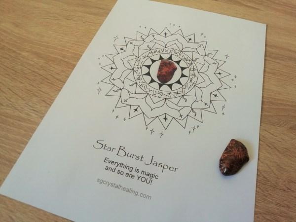 Crystal Mandala Coloring Page - Star Burst Jasper