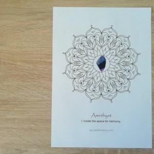Crystal Mandala Coloring Page - Amethyst 01