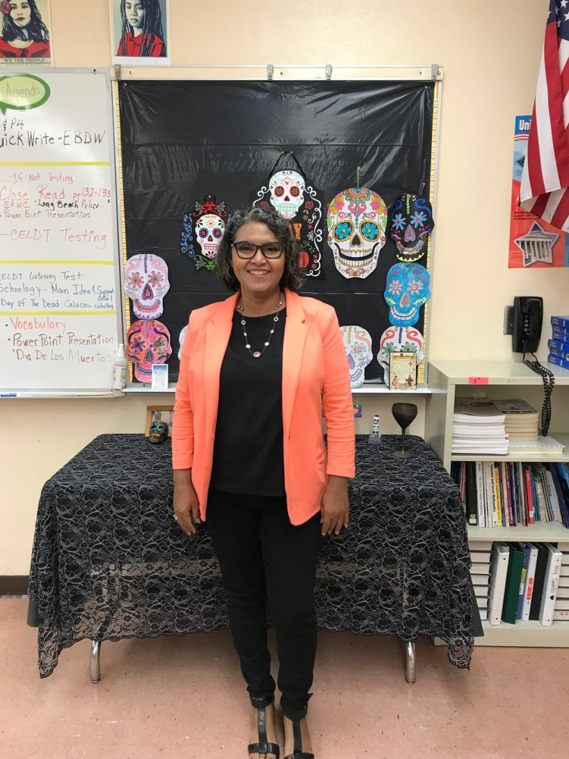 Ms. Hernandez, a passionate singer. She demonstrates to be courageous by singing her heart out and participating in the retirement dinners, along with teacher talent shows.