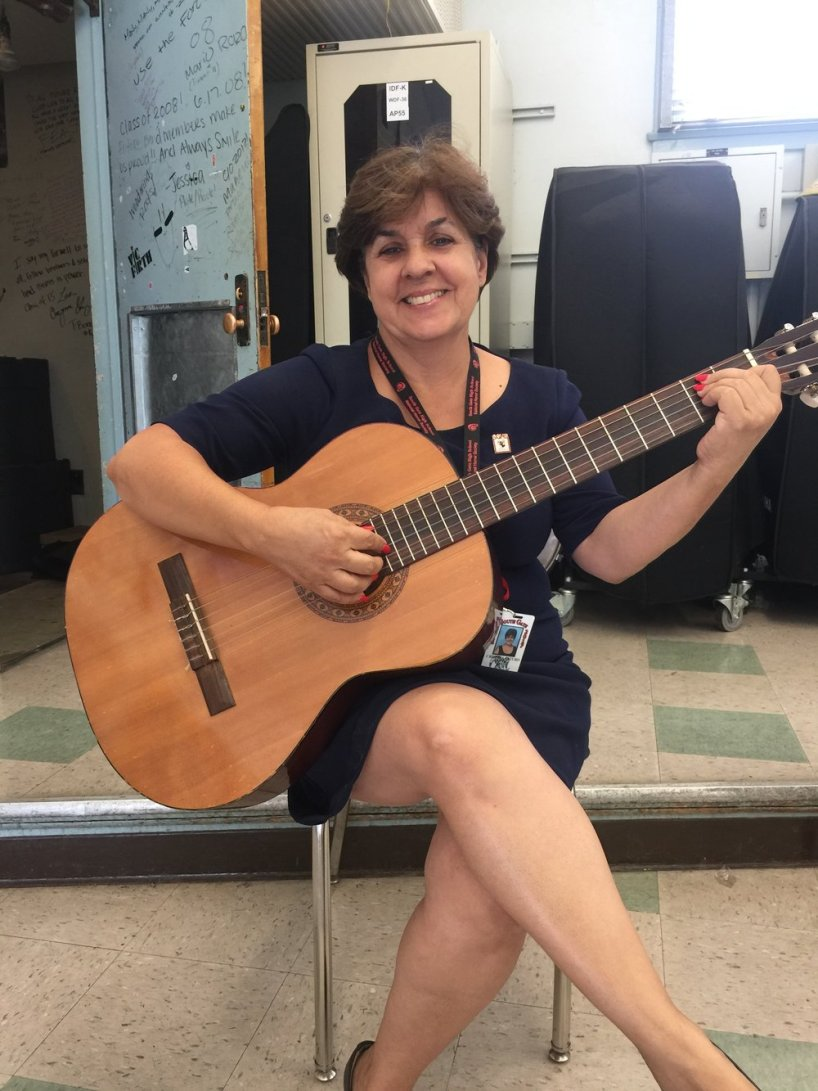 Ms. Esturo enjoys the piano and playing the guitar; self-taught.