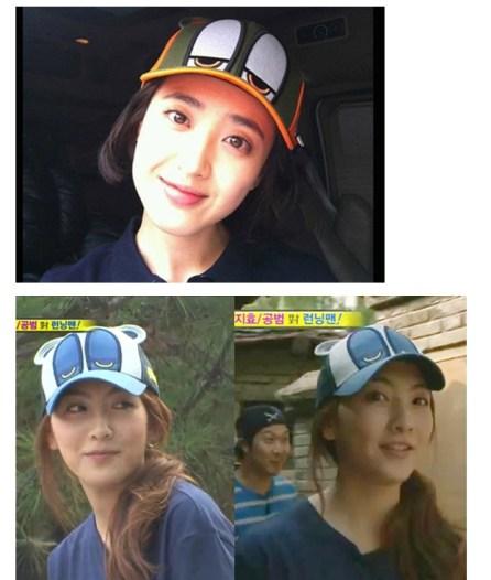 Runningman-Song-Ji-Hyo-Blue-Cap