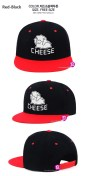 CHEESE IN THE TRAP GOODS - CHEESE DOLL SNAPBACK (RED-BLACK)