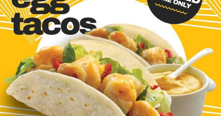 The NEW MUST TRY: Salted Egg Tacos from Stuff'd!