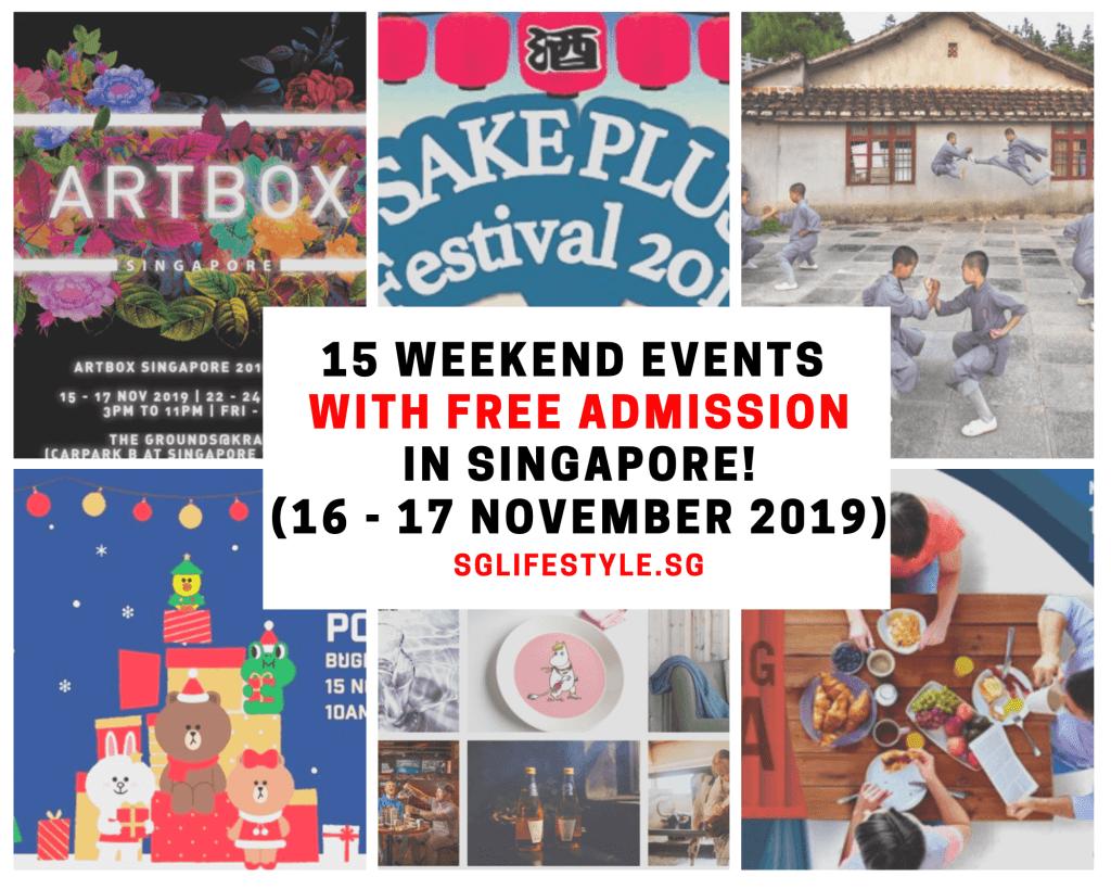weekend event singapore 16 17 nov 2019