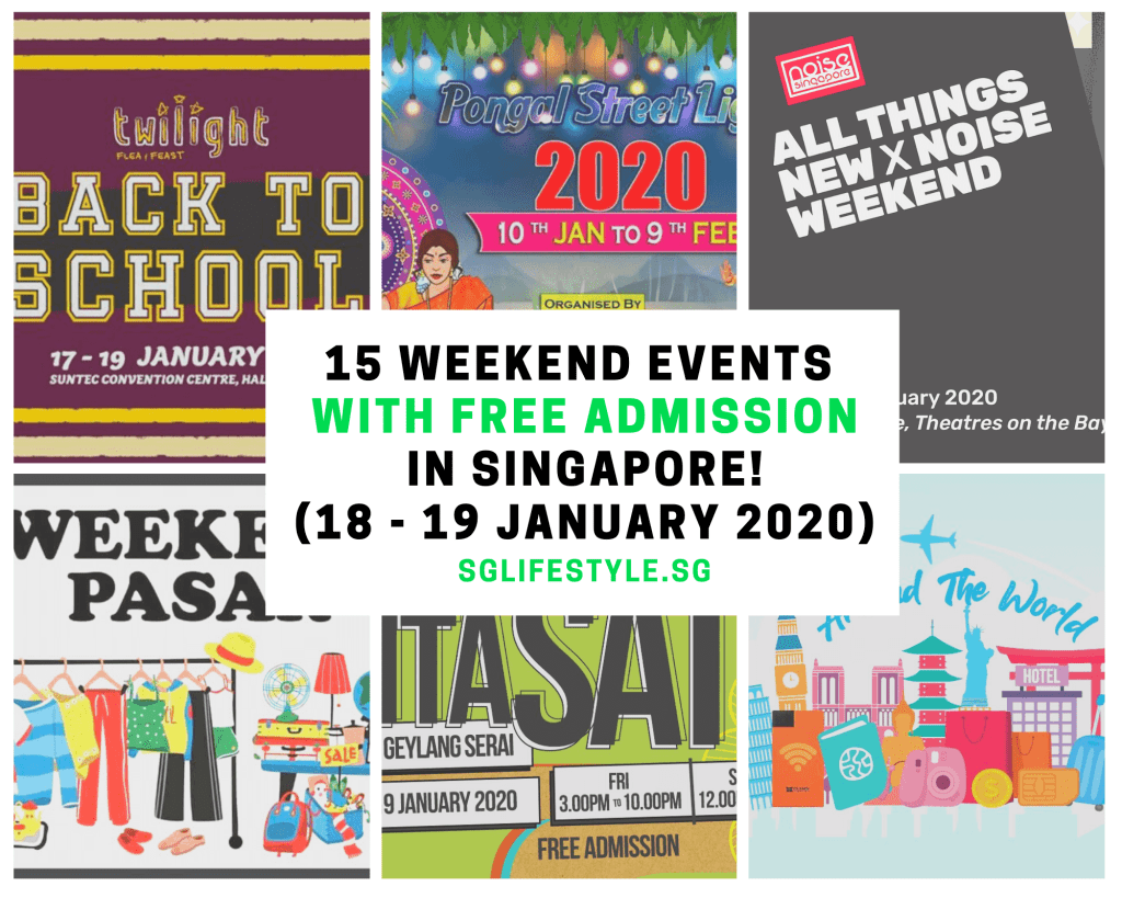 weekend events singapore free admission january