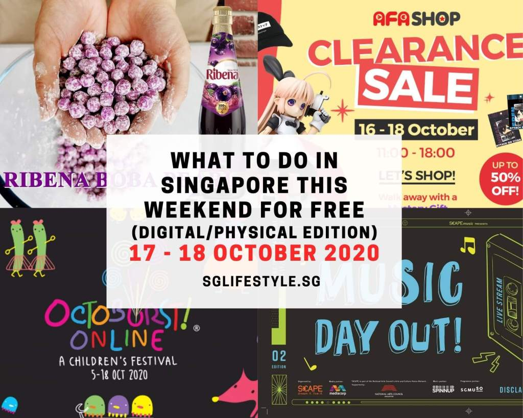 what to do singapore weekend for free 17 18 october 2020