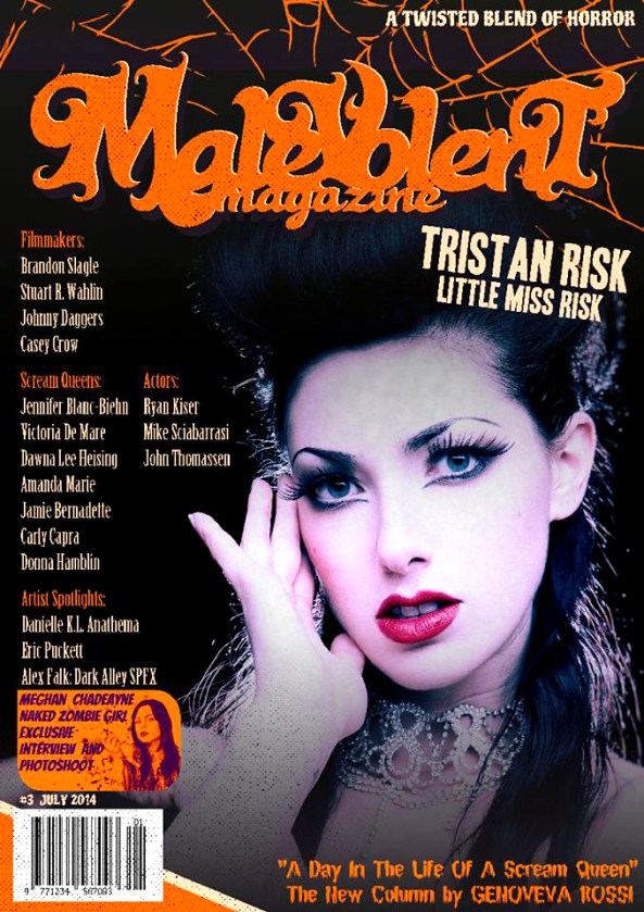 Malevolent Magazine featuring Blood on the Reel
