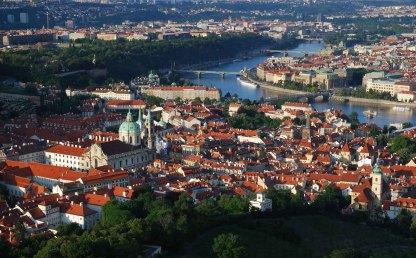 Bird's Eye View of Prague