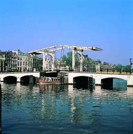 Skinny Bridge in Amsterdam