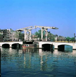 Skinny Bridge in Amsterdam