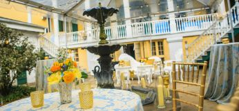 French Inspired Décor in Historic French Quarter Courtyard