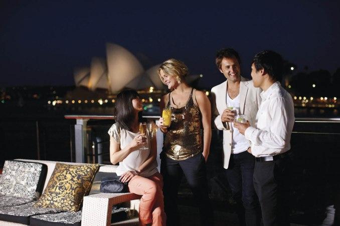 Cocktails near the Opera Building Sydney