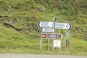 Applecross sign