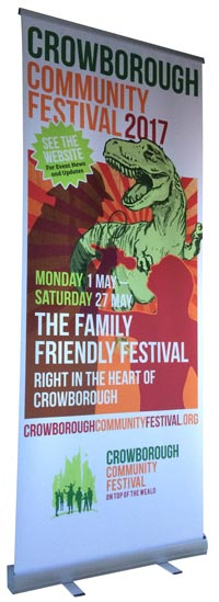 Pull-up Banner Crowborough Community Festival
