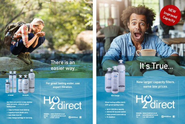 H2O Direct advertisement design
