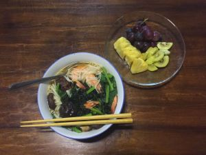 How to use kelp as a soup stock for noodles
