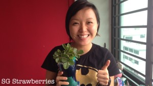 SG Strawberries with Grace Tan