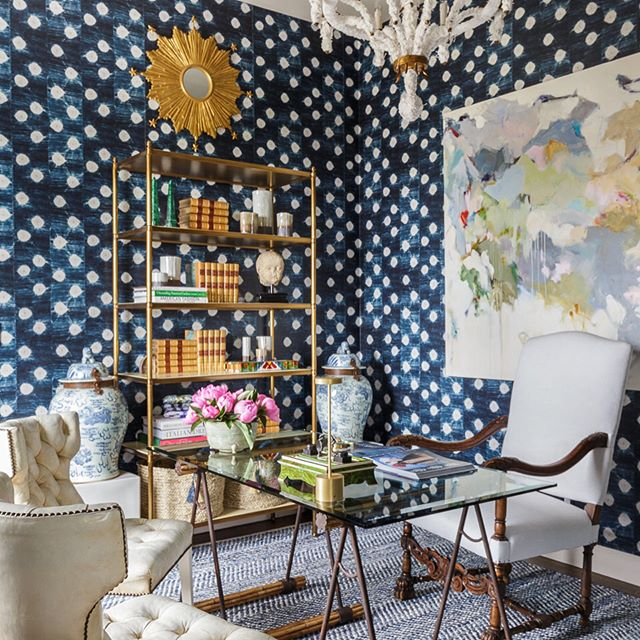 ... my FAVORITE room in the San Francisco decorator showhouse this year just happened to have the most amazing St. Frank indigo wallpaper donning the walls?