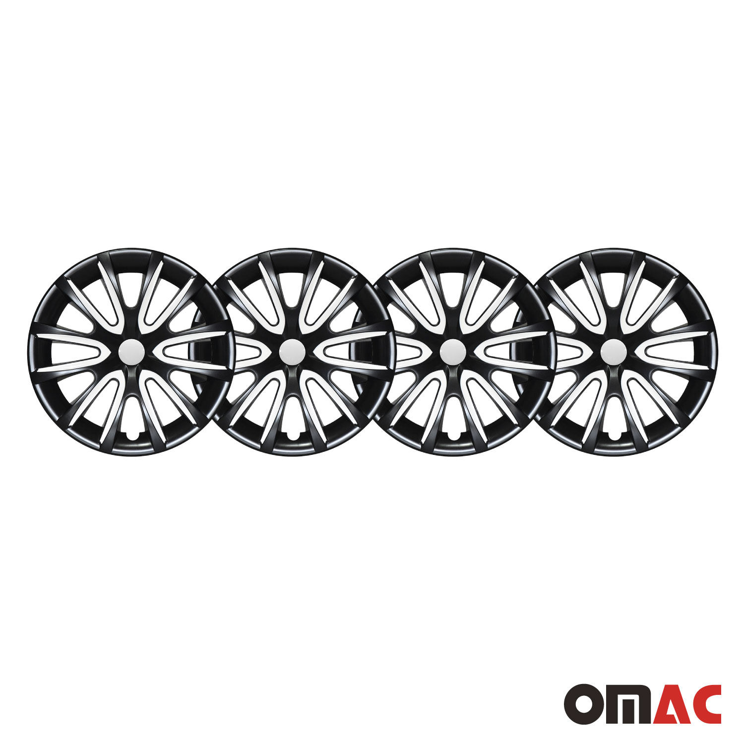 16 Inch Hub Cap Wheel Rim Cover Glossy Black Amp White For