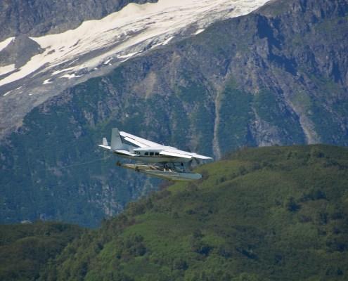 Alaska: idorovolante in volo