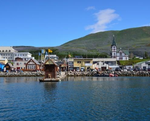 Islanda porto di Husavik