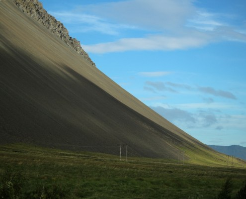 Islanda colline