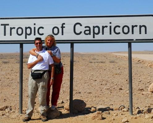 Namibia: tropico del Capricorno