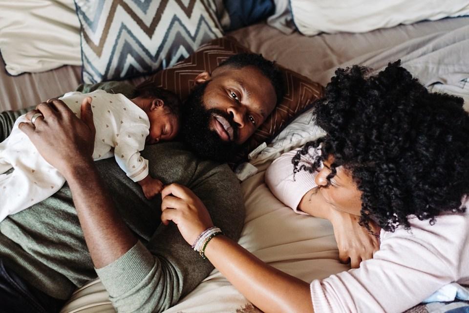 black family lifestyle newborn philadelphia