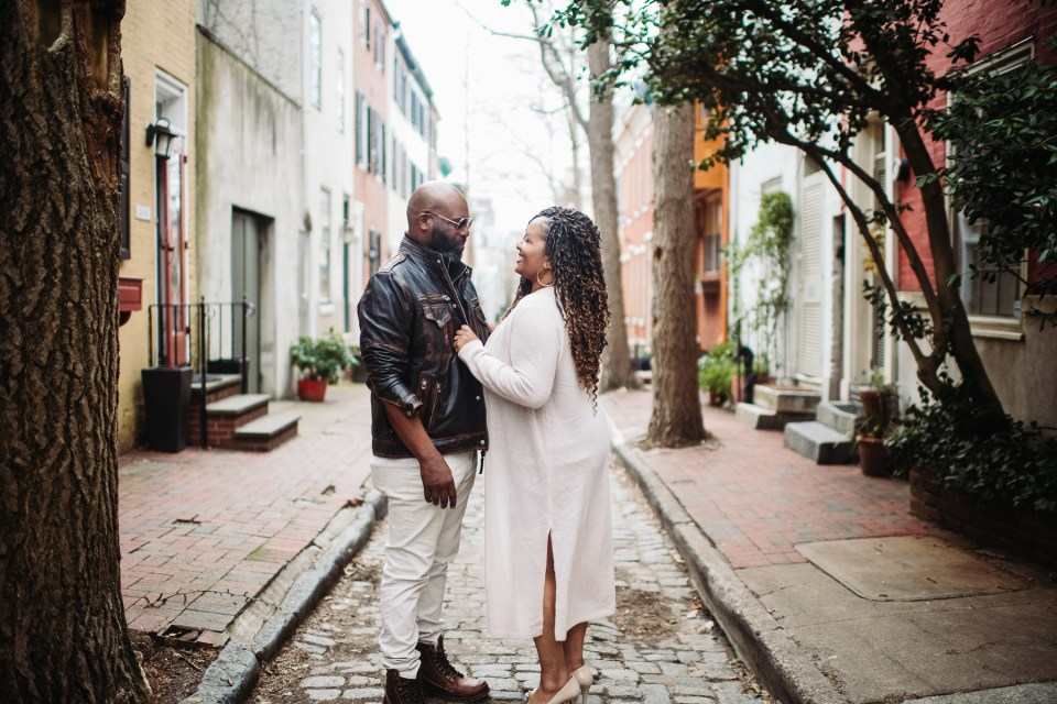 couple in philadelphia fitler square