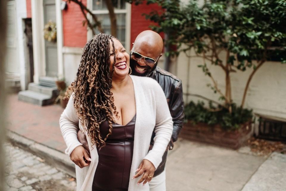 beautiful black couple in fitler square philadelphia