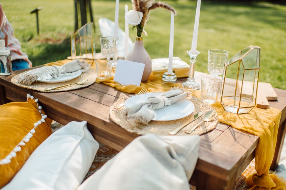 romantic picnic in park south jersey