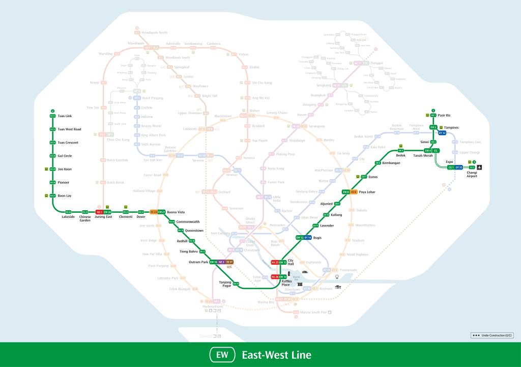 East-West Line Mrt Map