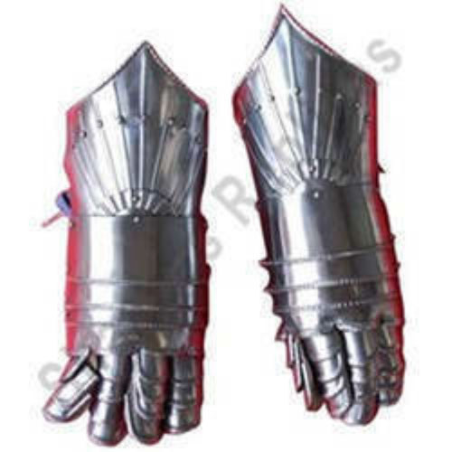Medieval Steel and Leather Gauntlets