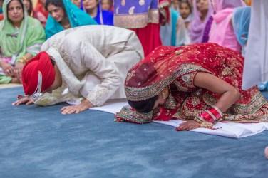 During the Anand Karj at the San Jose Gurdwara