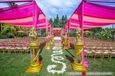 Kunal-Shveta-Indian-wedding-venue-bride-groom-Hotel-Irvine-Global-Photography-sherwani-lehenga-bollywood-dance-Hindu-wedding-ceremony-jaimala-varmala-mandap-chiavari-chairs-pink-canopy-pink-programs